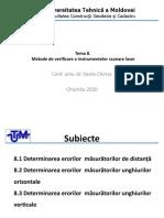 T.8 Metode de Verificare a Instrumentelor Scanare Laser