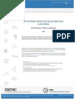 ACTIVIDAD ANTIVIRAL DE PRODUCTOS NATURALES UNIVERSIDAD DE BUENOS AIRES 1987