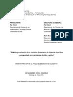 Analisis y Evaluacion de La Inclusion de Extracto de Hojas de Olivo