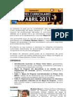 Ajustes Curriculares  30 abril 2011