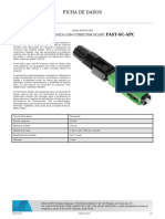 EMENDA MECÂNICA COM CONECTOR SC_APC FAST-SC-APC t-FAST-SC-APC