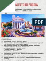 Il Dialetto Di Foggia N. 6 Del 20-03-2021