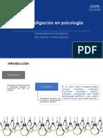 La investigación en psicología