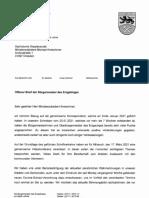 Offener Brief Erzgebirgsbürgermeister
