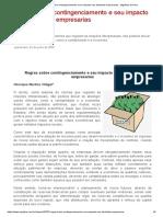 Regras sobre contingenciamento e seu impacto nas atividades empresarias - Migalhas de Peso
