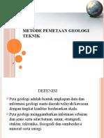 Metode pemetaan geologi.