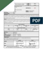 Protocolo Valvulas de Seguridad y Alivio 15450