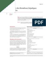 Etiologies Des Thromboses Portale Et Hepatiques