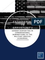 Gatekeepers to Opportunity - Gender Disparities in Congressional Nominations to the Military Service Academies 7.26.19