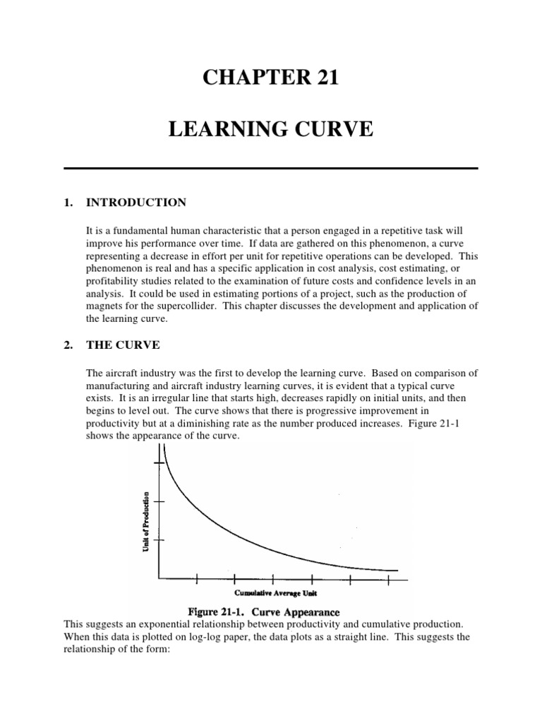 exponential learning curve