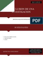 Conclusion de Una Investigacion - Exposicion 2