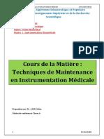 Aissi Filiere Gbm m1 Module Technique de Maintenance en Instrumentation Medicale 1