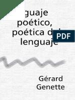 G. Genette LENGUAJE POÉTICO, POÉTICA DEL LENGUAJE