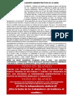 A LOS TRABAJADORES ADMINISTRATIVOS DE LA UMSA