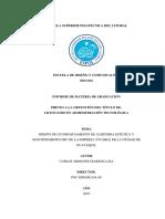 DISEÑO DE UN DEPARTAMENTO DE AUDITORIA ESTETICA Y MANTENIMIENTO HFC