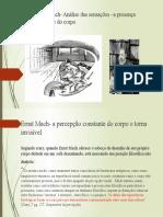 Ernst Mach- Análise das sensações –tópicos especiais em HP A