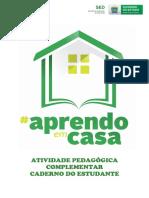 CADERNOS ESTUDANTE - ATIVIDADE PEDAGÓGICA COMPLEMENTAR