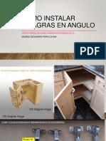 Como instalar bisagras en Angulo