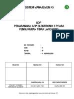 60. PL 3.03 SOP Pemasangan APP Elektronik 3 Ph Pengk Tidak Langsung