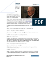 CNBC Warren Buffett Transcript, March 2, 2011