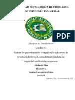 Manual de procedimientos a seguir en la aplicación de la técnica de rayos X