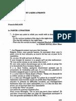 LUL La Droite Belge Et l Aide a Franco Balace