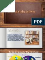 Book Data Entry Services