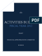 GUSA Fin App's student activities budget
