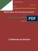 Méthodes de fractionnement
