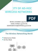 Capacity of Ad Hoc Wireless Networks (2)