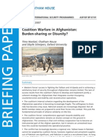 Chatham House report on Afghanistan
