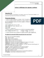 TP N°1  Génération et affichage des signaux continus