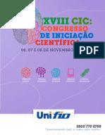 ANAIS DO XVIII CIC-Unifio - 2019