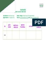 planificación  taller de verano MALE bosque encantado