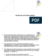 Small Scale and Village Industry
