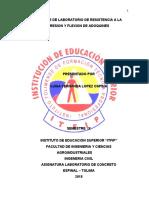INFORME DE LABORATORIO DE RESISTENCIA DE COMPRESION DE ADOQUINES
