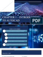 2. Chapter 1 Introduction to AutoCAD