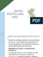 GEOGRAFÍA POLÍTICA DEL PERÚ