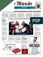 Le Monde Du Vendredi 12 Mars 2021@PresseFr