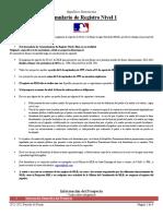 2021-22 Dominican Republic Level 1 Registration Form - Spanish