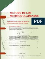 METODO DE LOS MINIMOS CUADRADOS MRU