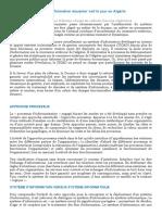 Un nouveau système douanier en Algérie par Hakim BERDJOUDJ