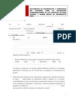 FORMATO N° 09-ET Declaracion de autorizacion y compromiso