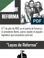 LAS LEYES DE REFORMA Expo