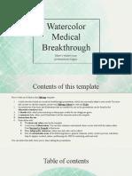 Watercolor Medical Breakthrough by Slidesgo