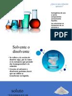 Que Es Una Solución Química Clase 17 de Febrero