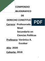 Compendio Bibliografico de Derecho Constitucional