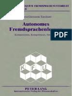 [9783631835296 - Autonomes Fremdsprachenlernen] Autonomes Fremdsprachenlernen