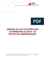 análisis de los factores que contribuyen al éxito de proyectos
