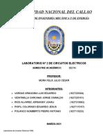 LABORATORIO N°2 LEY DE OHM-  2021N CIRCUITOS ELECTRICOS